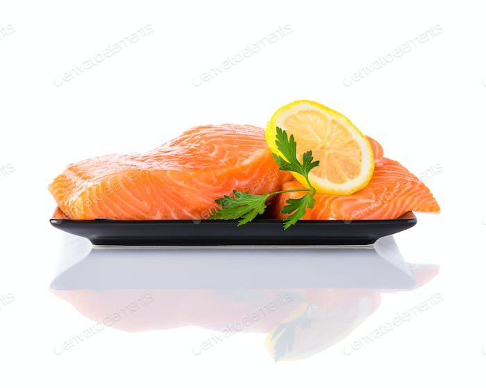 Fish Fillet on White Background