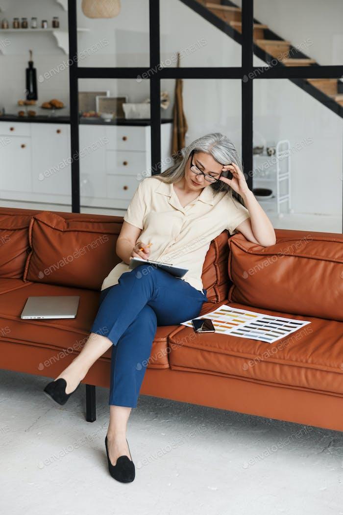 Mature business woman designer
