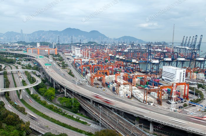 Container terminal Hong Kong industrial district