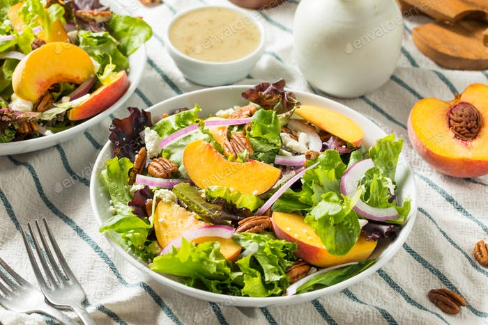 Healthy Homemade Peach Salad