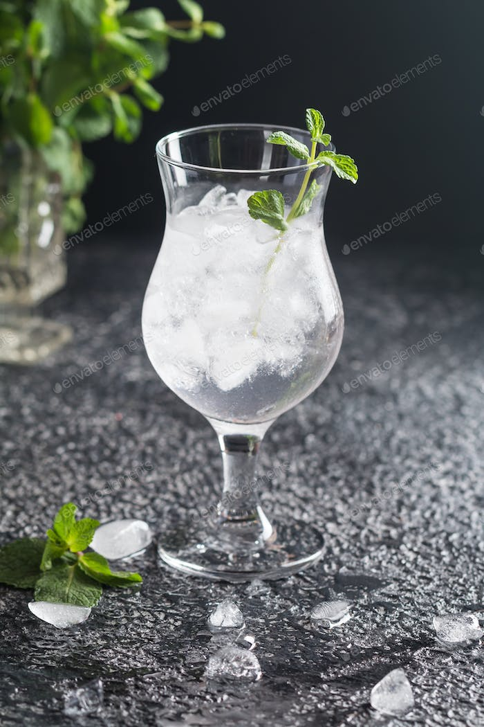 Misted glass of water
