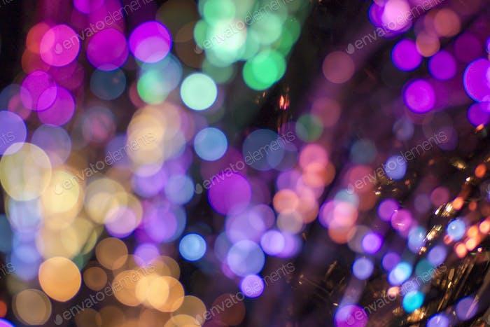 Farbige defokussierte Lichter Hintergrund. Abstrakte Bokeh Lichter.