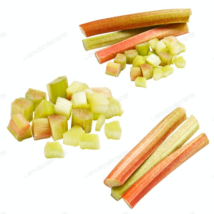 Collection of rhubarb