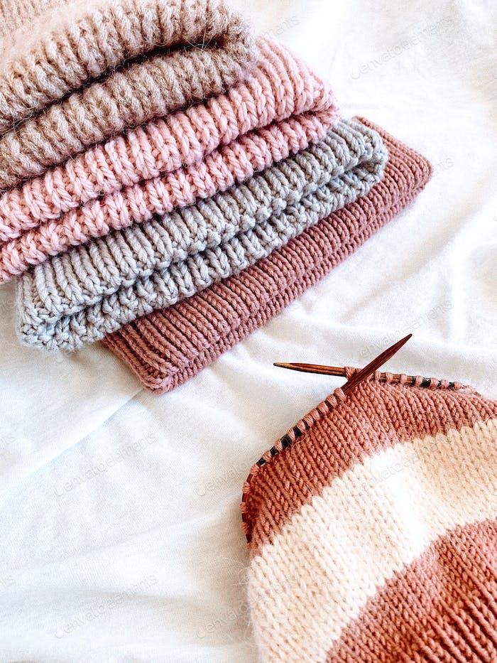 knitting hobby concept
