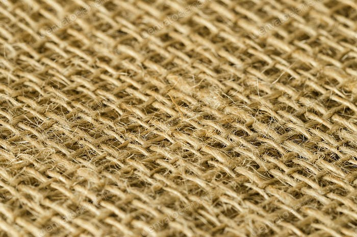 Jute fabric layers diagonal view