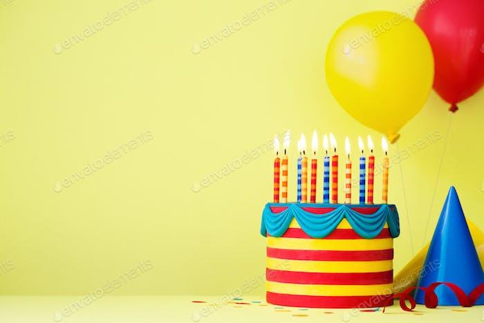 Bunte Geburtstagsparty-Hintergrund