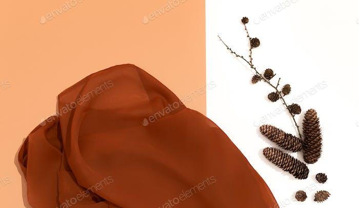 Autumn brown colours textile