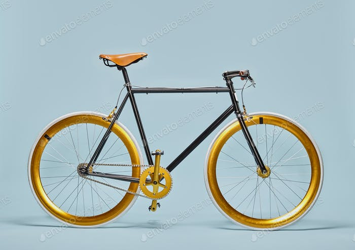 Trendy black and gold bicycle