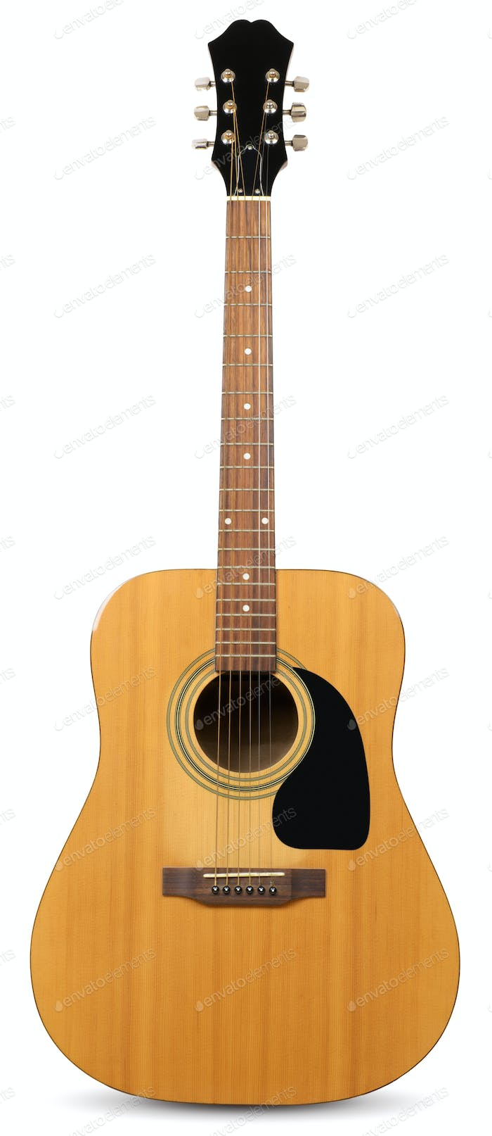 guitar isolated on a white