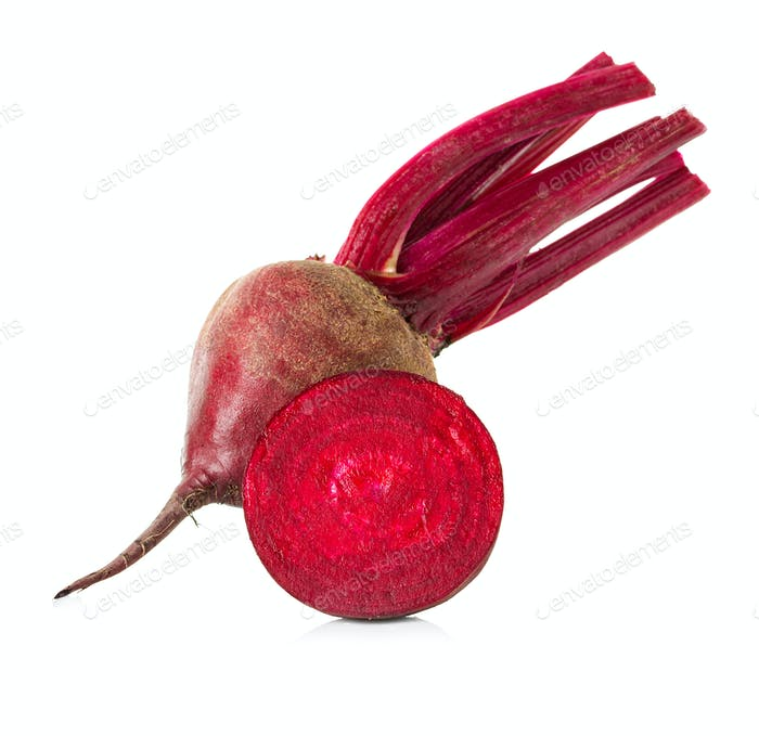 Fresh beetroot isolated