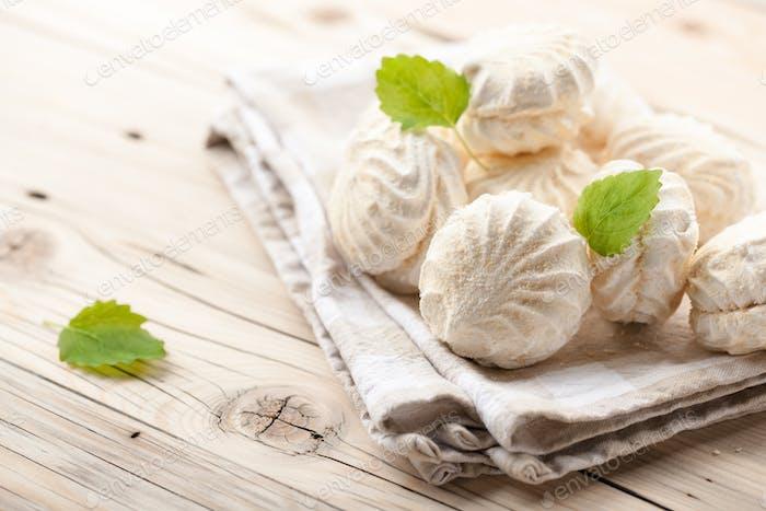 Weiße Marshmallows
