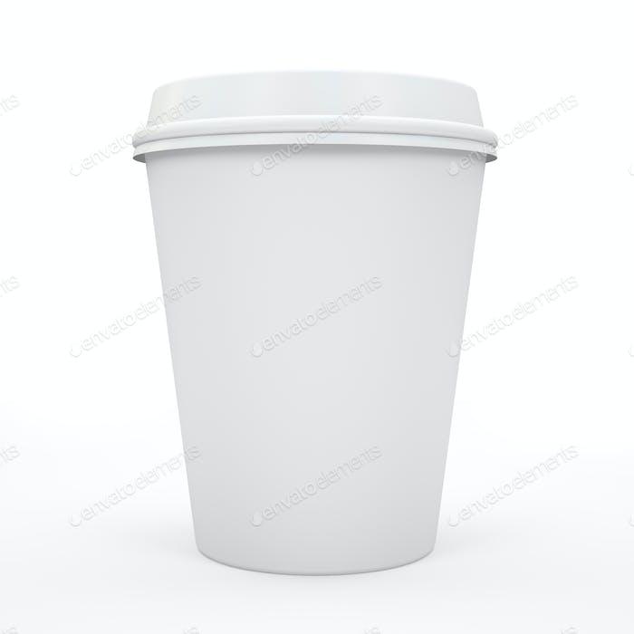 Kaffeetasse isoliert auf weißem Hintergrund 3D rndering