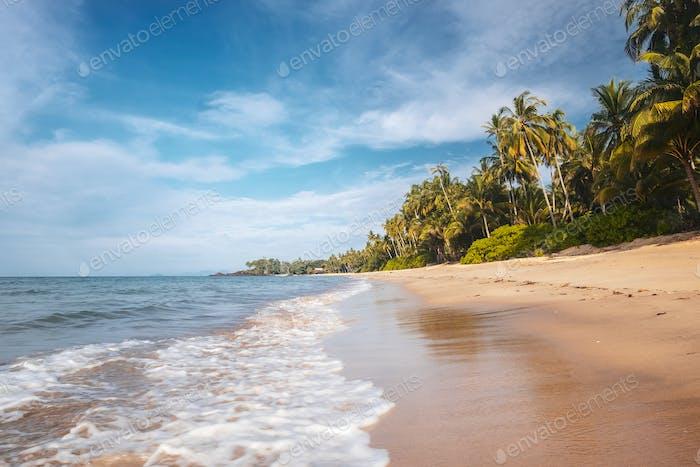 BORNEO / SARAWAK / MALAYSIA / JUNE 2014:  Ocean seaside in the a