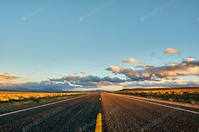 Open highway in California