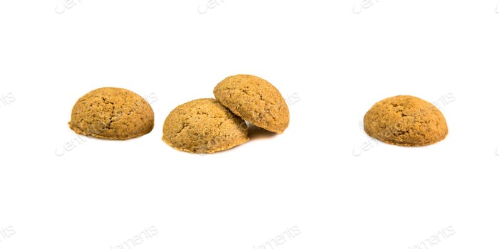 Four ginger nuts in a row