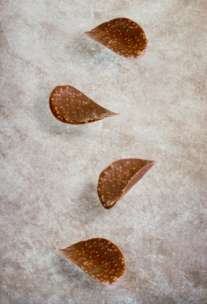 Falling chocolate chips