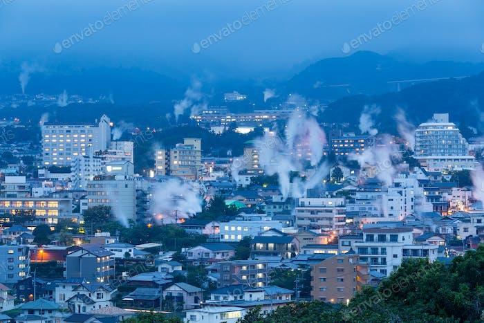 Beppu city in Japan