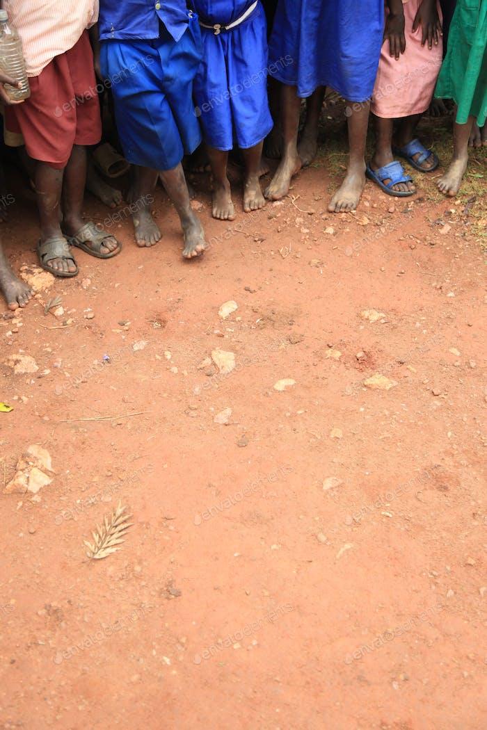 African Children's Feet