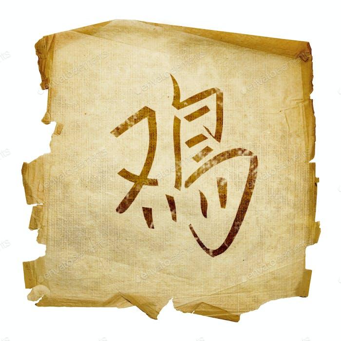 Hahn Zodiac Symbol, isoliert auf weißem Hintergrund.