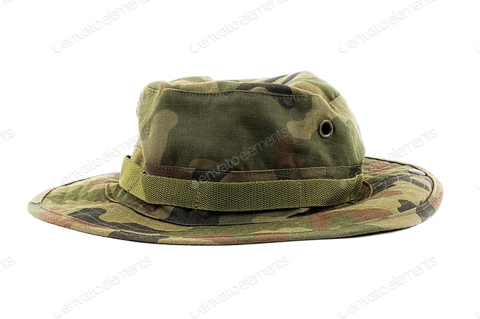Hat in military patterns