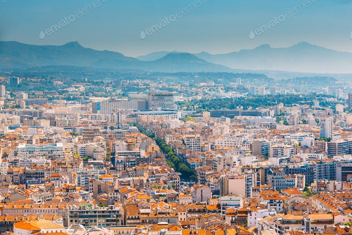 Cityscape of Marseille, France. Urban