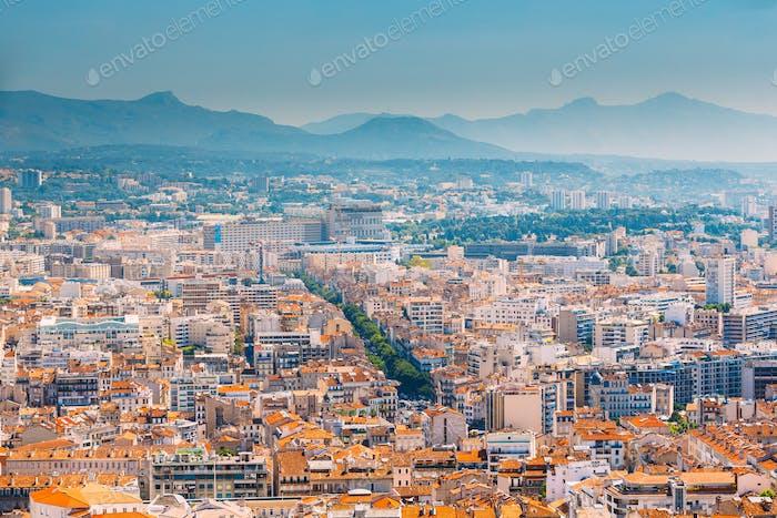 Stadtbild von Marseille, Frankreich. Urbane