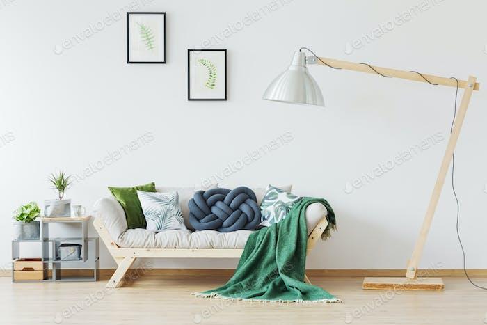 Oversize lamp in interior