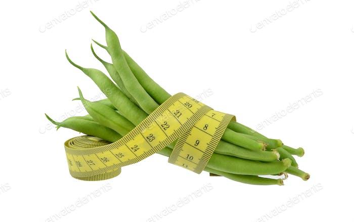 Fresh Green Beans Diet Concept