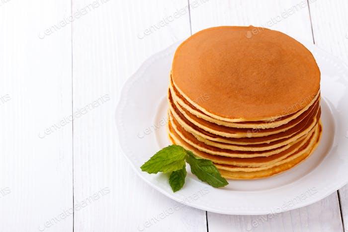 homemade american pancakes