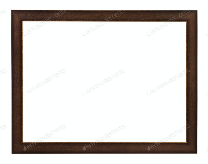 modern flat brown painted wooden picture frame