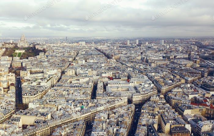 Luftaufnahme von sacre coeur in paris frankreich