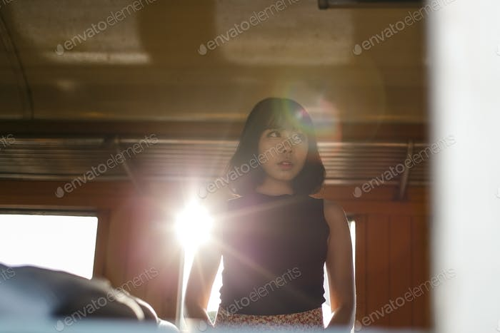 Asian Ethnicity Teen Feminist Posing Lady Girl Concept