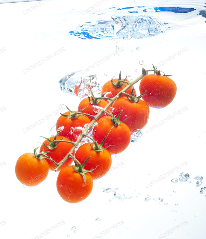Tomatos in the water