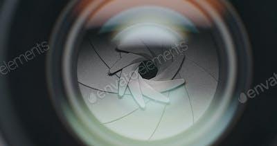 Professional camera aperture