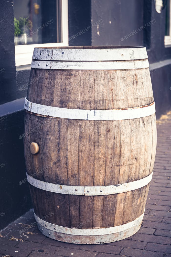 Old beer barrel