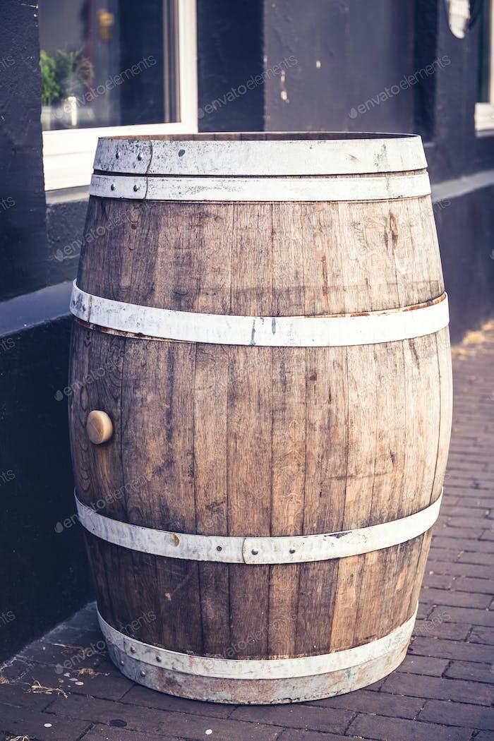Old beer barrel