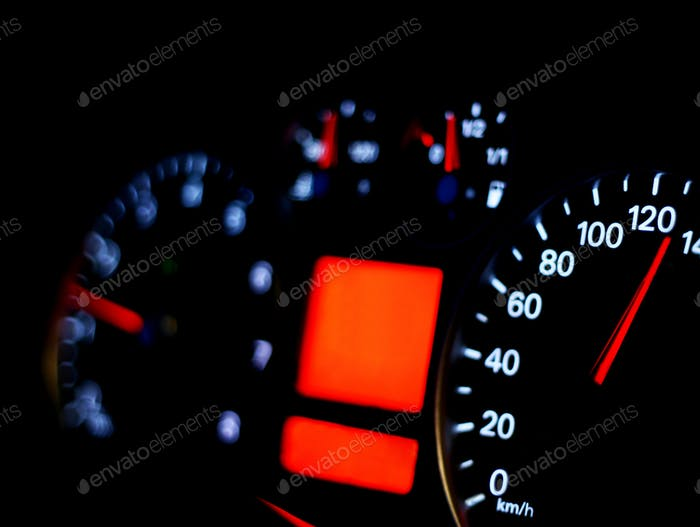Speedometer close up background