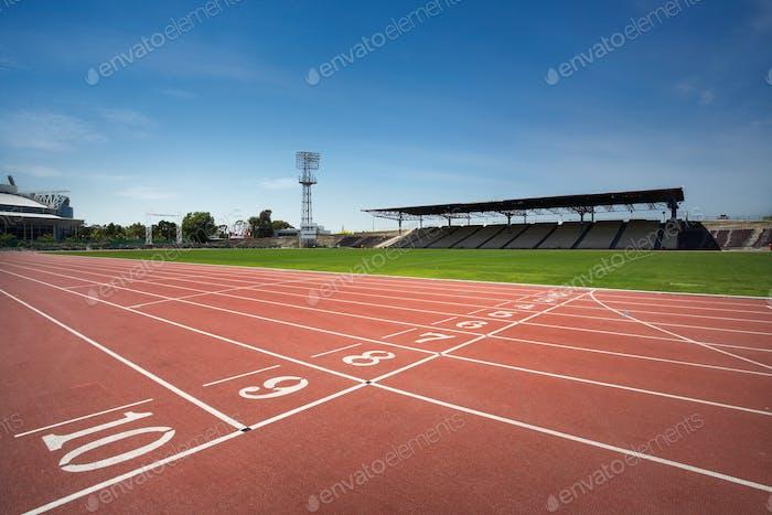 Leichtathletik-Strecke