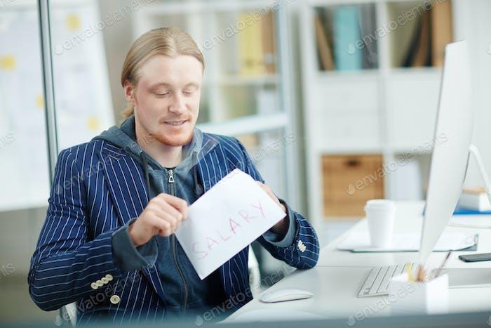 Salary in envelope