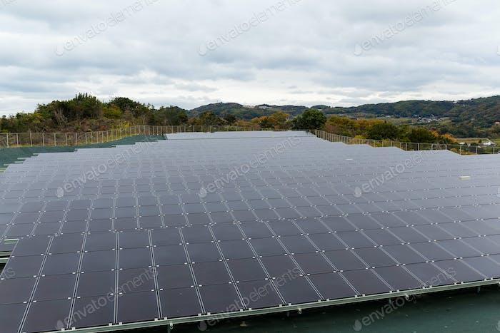 Solar energy panel, solar power plant