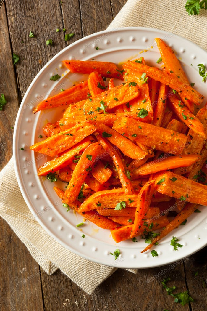 Healthy Homemade Roasted Carrots