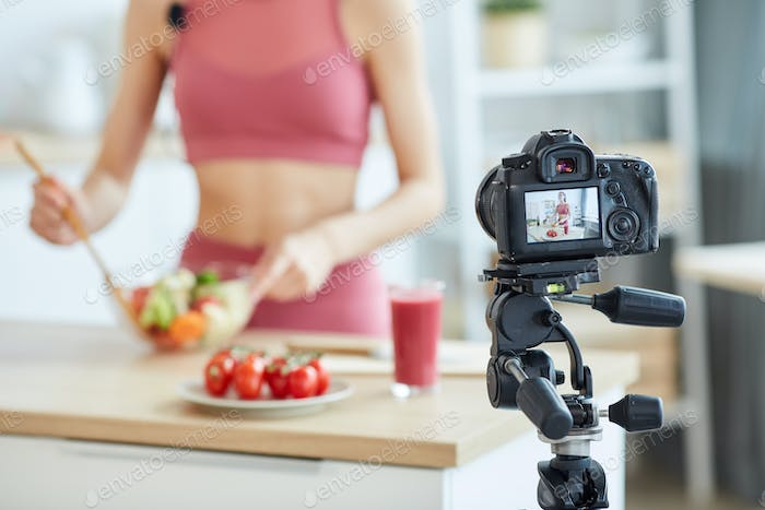 Camera Recording Cooking Video