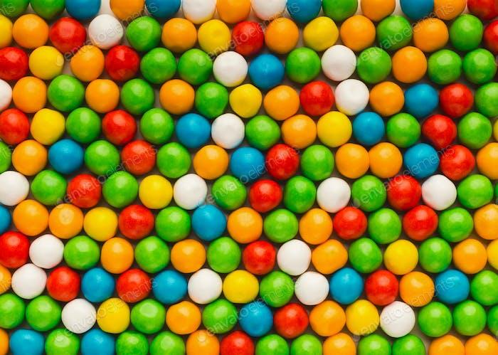 Mulicolored bonbons background