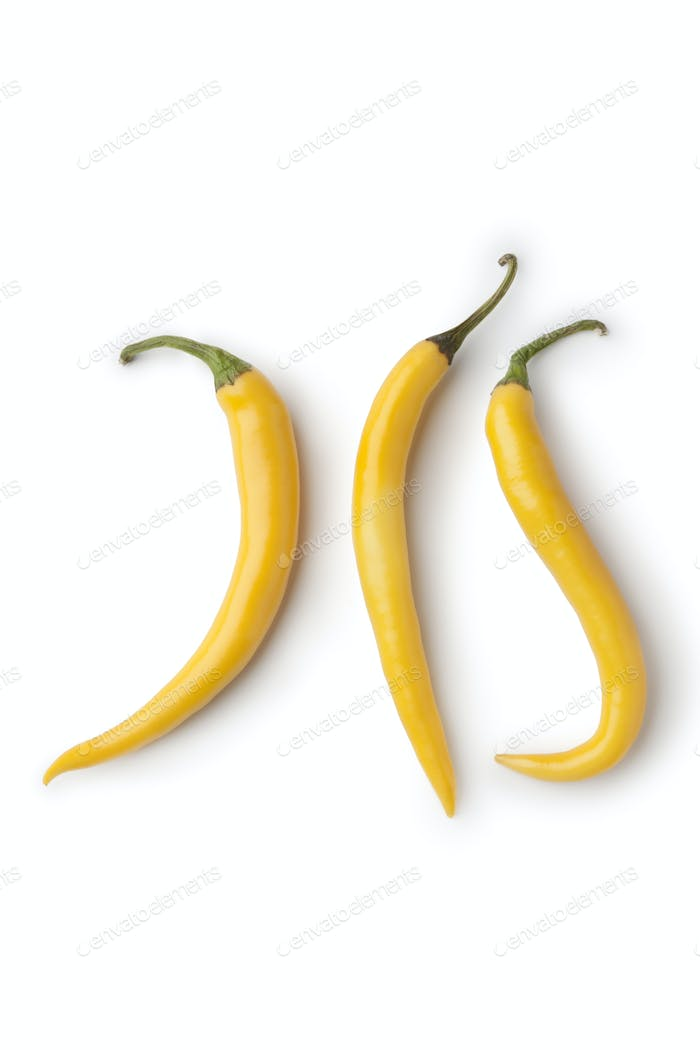 Fresh yellow hot peppers