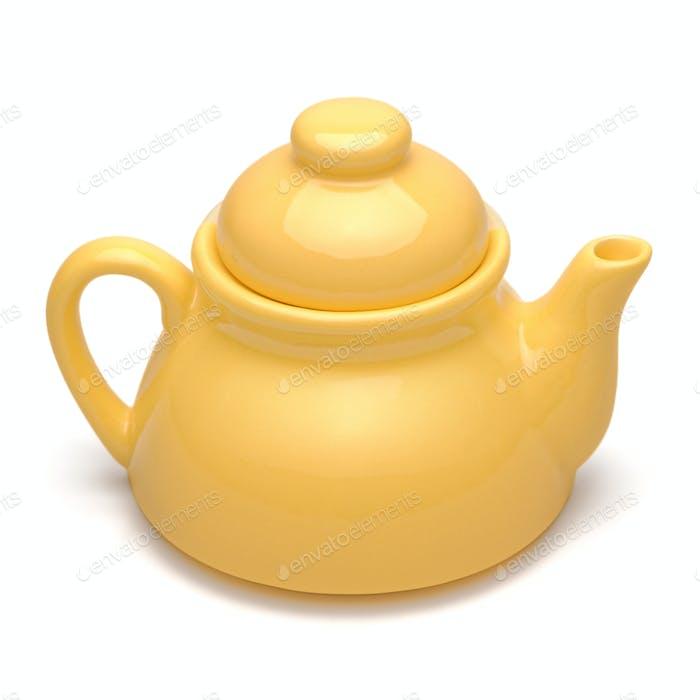 Small yellow teapot