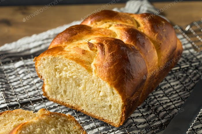 Homemade Baked Braided Brioche Bread