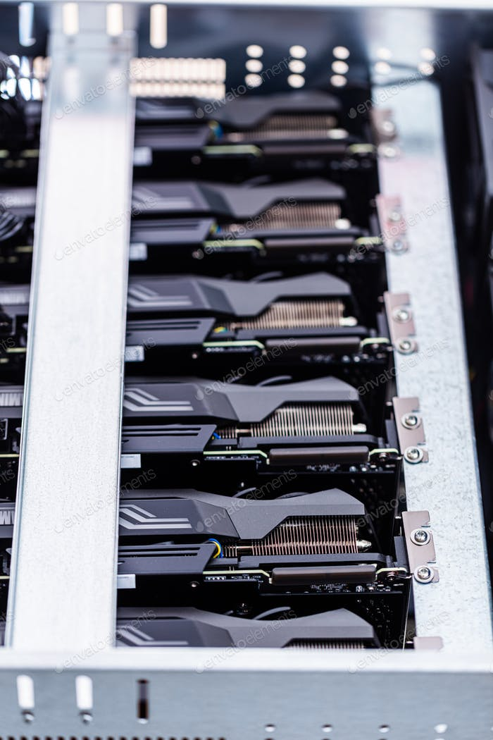 Bitcoin and cryptocurrency miner - a mining computer