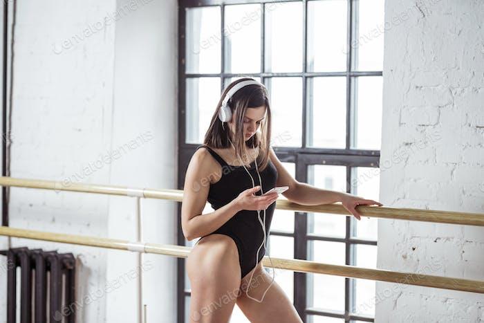 Young girl in dance studio