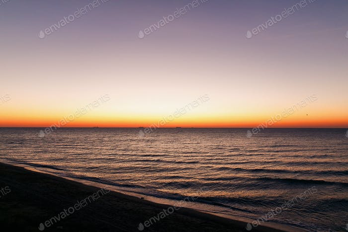 Beautiful view of sunrise in sea