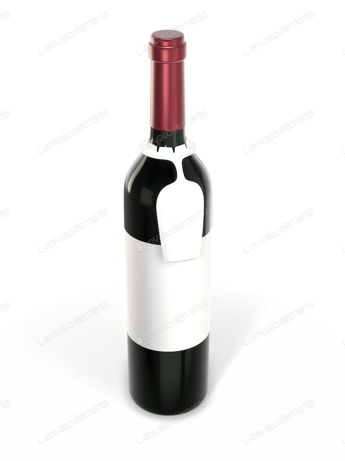 Bottle with hanging tag for your brand and layout.